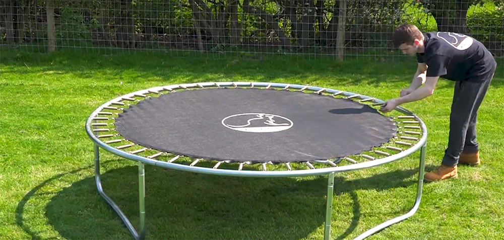 10. add all the springs to the trampoline