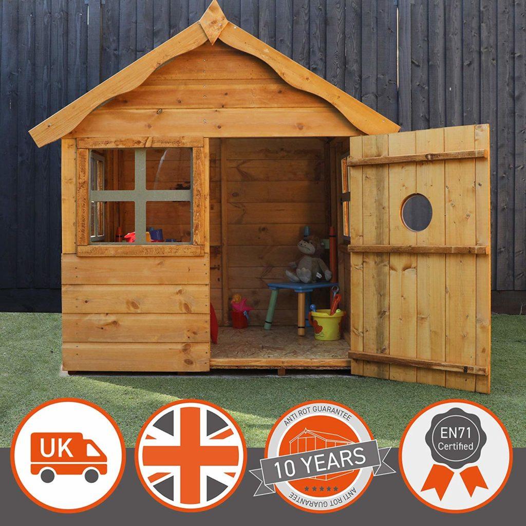 waltons wooden garden playhouse 4ft x 4ft